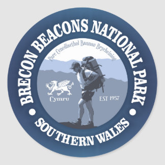 Brecon Beacons NP Classic Round Sticker
