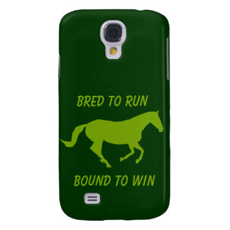 Bred to Run, Bound to Win (Running Horse) Galaxy S4 Cover