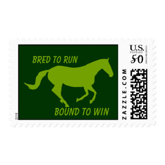 Bred to Run, Bound to Win (Running Horse) Postage