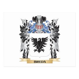Breda Coat of Arms - Family Crest Postcard