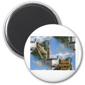 Breda Grote Kerk Jazz 2 Inch Round Magnet
