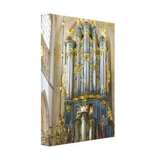 Breda Grote Kerk organ Canvas Print