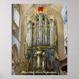 Breda Grote Kerk, Países Bajos Póster