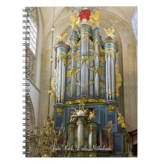 Breda pipe organ spiral notebook