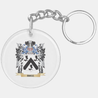 Bree Coat of Arms - Family Crest Double-Sided Round Acrylic Keychain