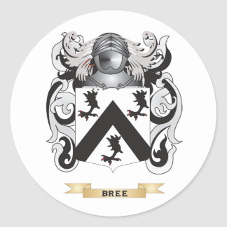 Bree Coat of Arms (Family Crest) Round Sticker