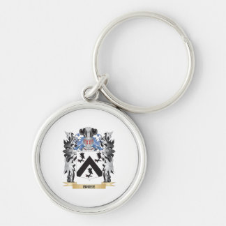 Bree Coat of Arms - Family Crest Silver-Colored Round Keychain