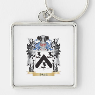 Bree Coat of Arms - Family Crest Silver-Colored Square Keychain