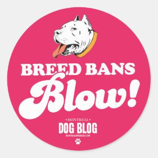Breed Bans Blow Sticker (fuchsia)