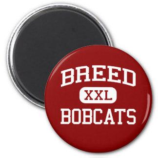 Breed - Bobcats - Junior - Lynn Massachusetts 2 Inch Round Magnet