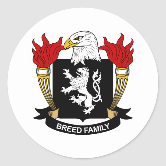 Breed Coat of Arms / Family Crest Classic Round Sticker