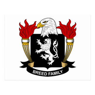 Breed Coat of Arms / Family Crest Postcard