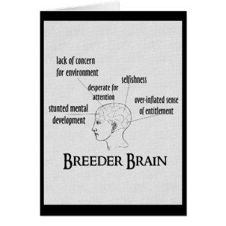 Breeder Brain Greeting Card