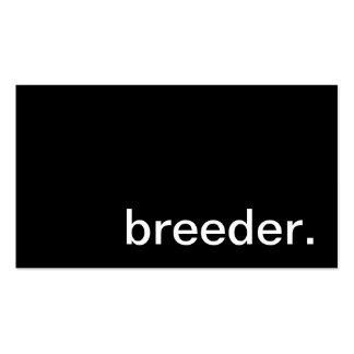 Breeder Business Card