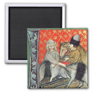 Breeding pigs and horses magnet