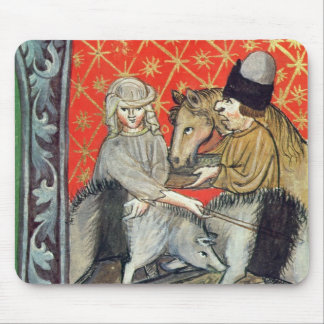 Breeding pigs and horses mouse pad