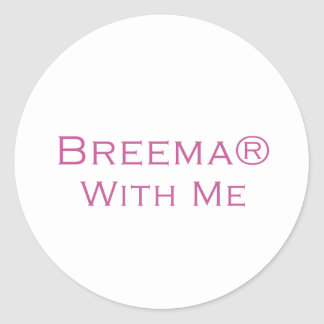 Breema With Me Classic Round Sticker