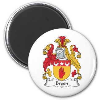 Breen Family Crest 2 Inch Round Magnet
