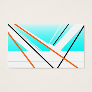 Breeze abstract blue white design business card
