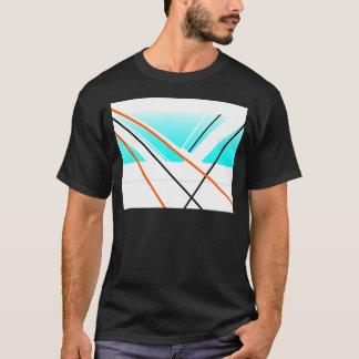Breeze Abstract Harbour Minimalist Landscape Blue T-Shirt