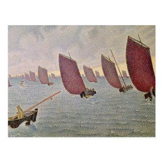 Breeze, Concarneau, 1891 Postcard
