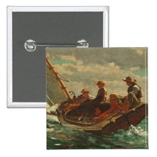 Breezing Up (A Fair Wind) 1873-76 Button