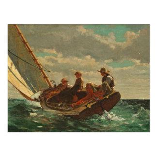 Breezing Up (A Fair Wind) 1873-76 Postcard