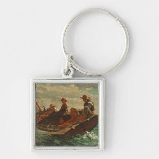 Breezing Up (A Fair Wind) 1873-76 Silver-Colored Square Keychain