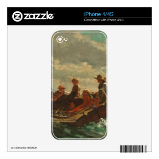 Breezing Up (A Fair Wind) 1873-76 Skins For iPhone 4