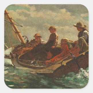 Breezing Up (A Fair Wind) 1873-76 Square Sticker