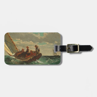 Breezing Up (A Fair Wind) 1873-76 Tag For Luggage
