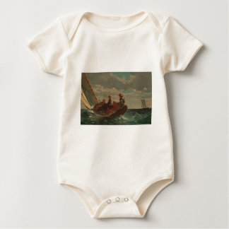 Breezing Up (A Fair Wind) by Winslow Homer Baby Bodysuit