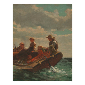 Breezing Up (A Fair Wind) by Winslow Homer Letterhead