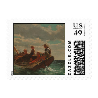Breezing Up (A Fair Wind) by Winslow Homer Stamp
