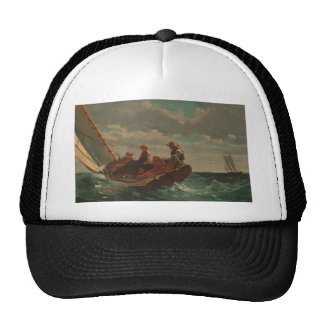 Breezing Up (A Fair Wind) by Winslow Homer Trucker Hat