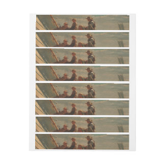 Breezing Up (A Fair Wind) by Winslow Homer Wrap Around Address Label