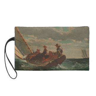 Breezing Up (A Fair Wind) by Winslow Homer Wristlet