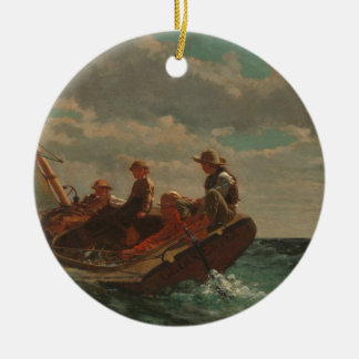 Breezing Up Winslow Homer Ceramic Ornament