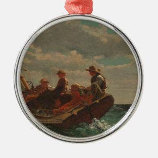 Breezing Up Winslow Homer Metal Ornament