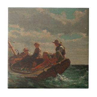 Breezing Up Winslow Homer Small Square Tile
