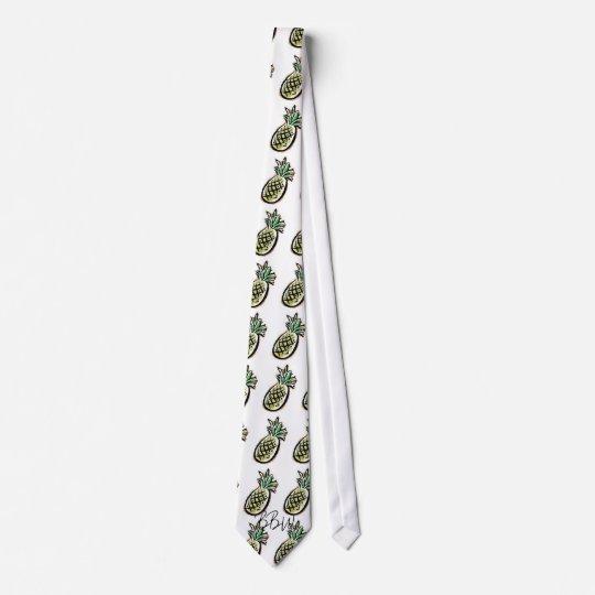 Breezy Beach Wear Aloha Pineapple Neck Tie