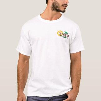 Breezy Beach Wear Green Palms Logo T-Shirt