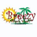 Breezy Beach Wear Green Palms Logo shirt
