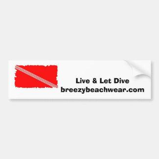 Breezy Beach Wear Scuba Logo - Dive Bumper Sticker