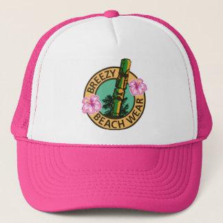 Breezy Beach Wear Tiki God Logo Trucker Hat