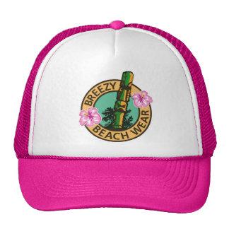 Breezy Beach Wear Tiki God Logo Trucker Hats