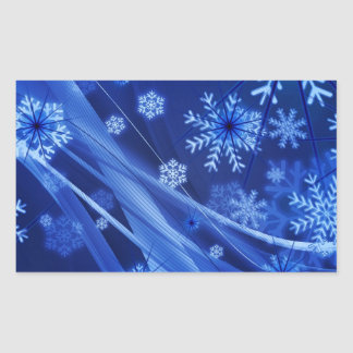 Breezy Blue Christmas Snowflakes Stickers