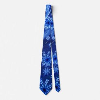 Breezy Blue Christmas Snowflakes Tie