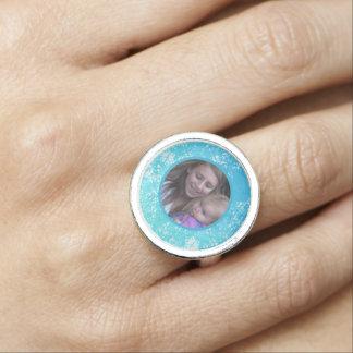 Breezy Blue Framed: Photo Ring