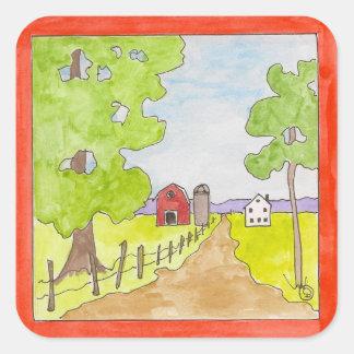 Breezy country lane sticker